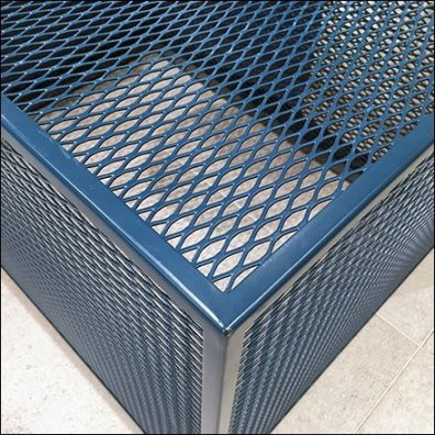Blue Expanded Metal Display Base
