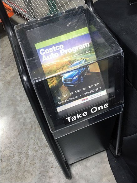 Costco Vehicle Shopping Covered Brochure Holder