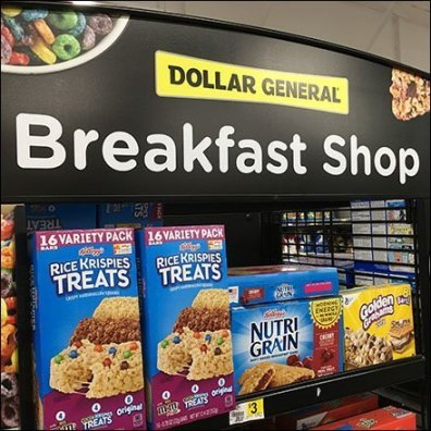 Comprehensive Kellogg's Breakfast Shop Endcap