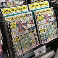 Store Discounts Flyer Tops Magazine Rack