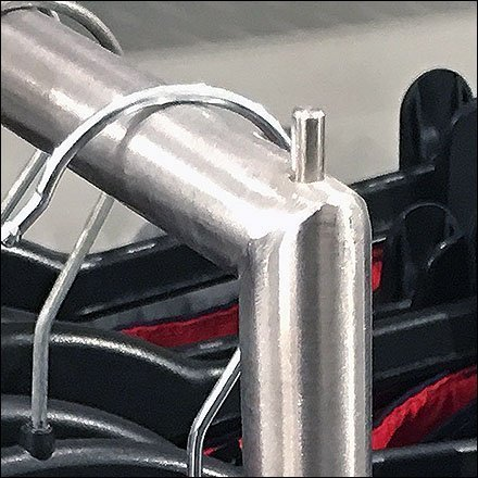 Drop-Arm Faceout Intermediate Pin-Stops