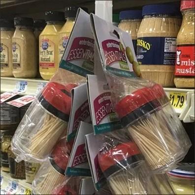 Entertaining Essentials Toothpick Strip Merchandiser Aux