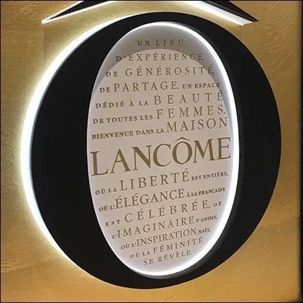 Lancome Logo Counter Descriptors Enumerated