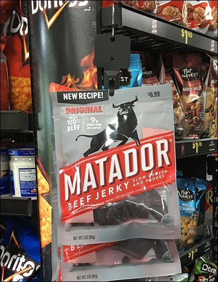 Matador Beef Jerky Strip Merchandiser