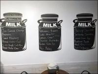 Milkhouse Creamery Milk Can Signage
