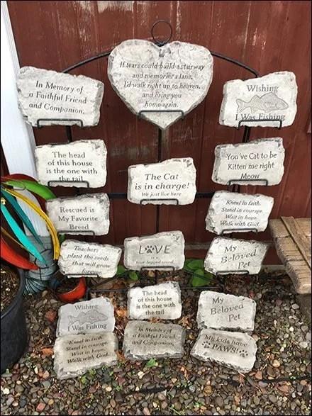 Wrought-Iron Garden Plaque Rack