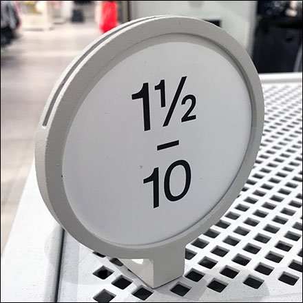 Perforated-Metal-Mount Swiveling Size Sign