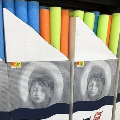 Swim Noodle Inline Gondola Merchandising