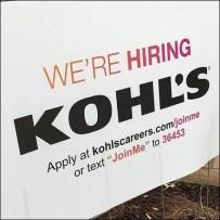 Kohls Text JoinMe Store Hiring Lawn Sign