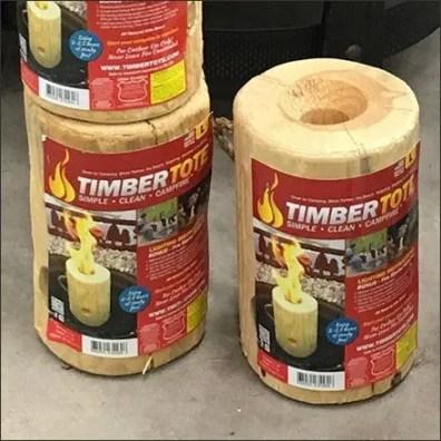 TimberTote Portable One-Log Campfire