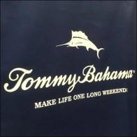 Tommy Bahama Teak Beverage Cooler Cart Cover Logo