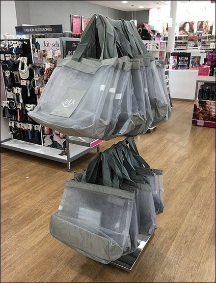 Ulta Shopping Bag Double-Decker Rack