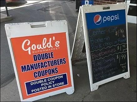 Branded Sidewalk Sign Promotional Pair