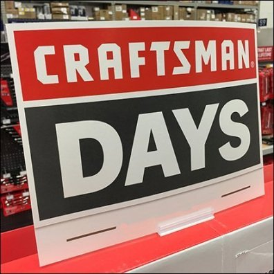 Craftsman Power Tool Days Signage