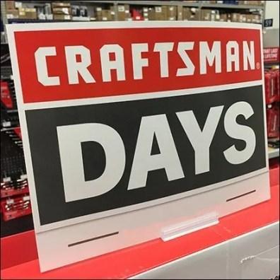 Craftsman Power Tool Days Signage