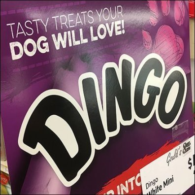 Dingo Dog Treats Rip Into Flavor Display