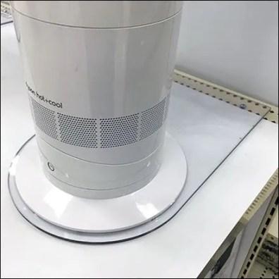 Dyson Fan Shelf Overlay Acrylic Anchor