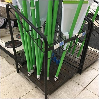 End-Aisle Angled Mop Rack Duo
