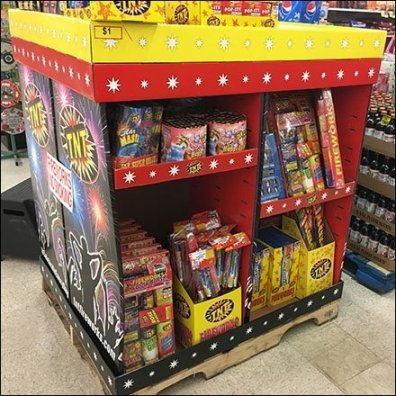 Fireworks Full-Pallet Assortment Merchandising