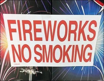 Fireworks No Smoking Last Ditch Warning