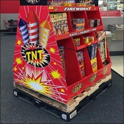 Fireworks Double-Pallet Display Merchandising