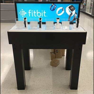 Low Fitbit Freestanding Table Display