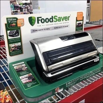 FoodSaver Sealer Linear Display Merchandising