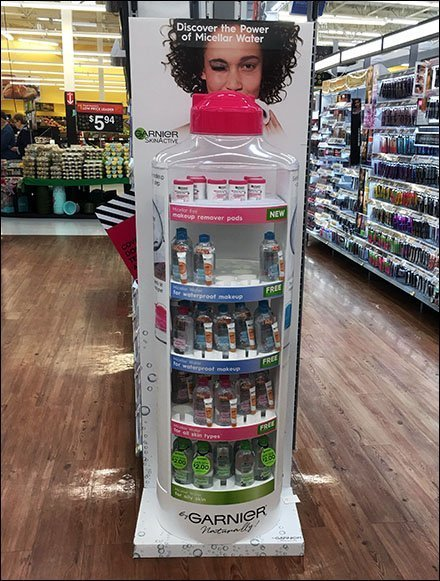 Garnier Micellar Water Bottle Realistic Display