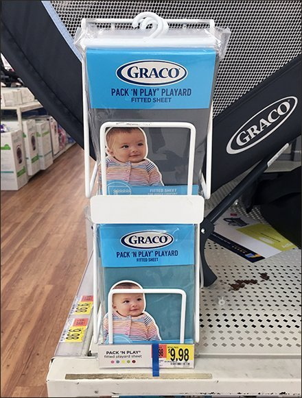 Graco Fitted Sheet Shelf-Edge Stackable Rack