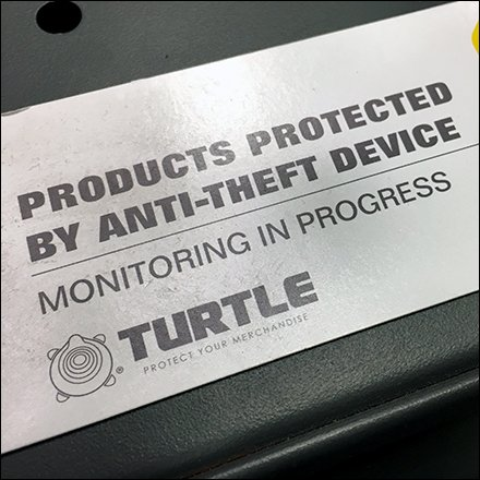 Branded Anti-Theft Security Warning at Shelf-Edge