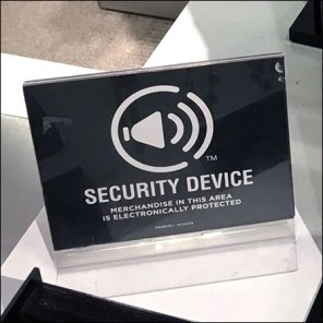 JCPenney Fashion Jewelry Security Device Warning Feature