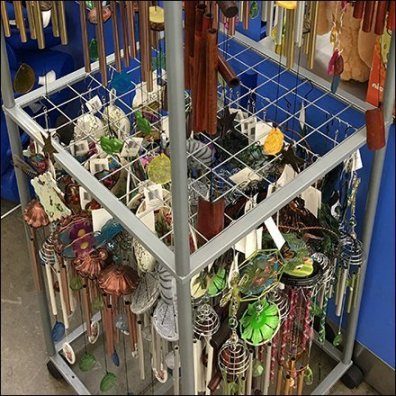 Wind Chime Mobile Tower Wire Grid Hang