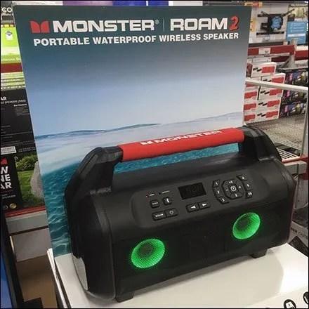 Monster Waterproof Speaker Seaside Display