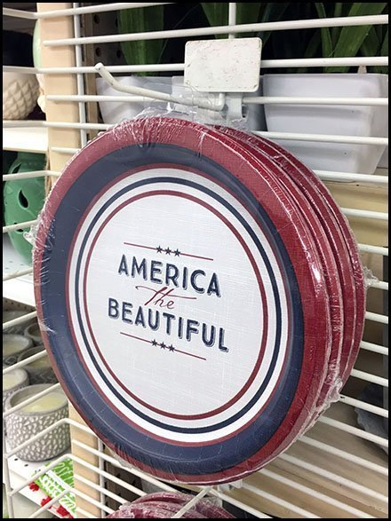 Patriotic Paper Plate PowerWing Grid Hook