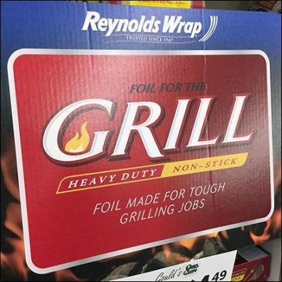 Reynolds Grilling Foil Display Redux