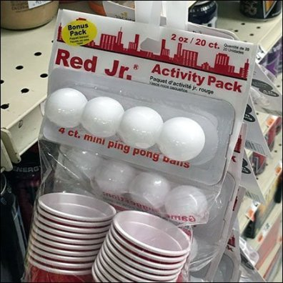 Shot-Glass-Pong Game Strip Merchandiser
