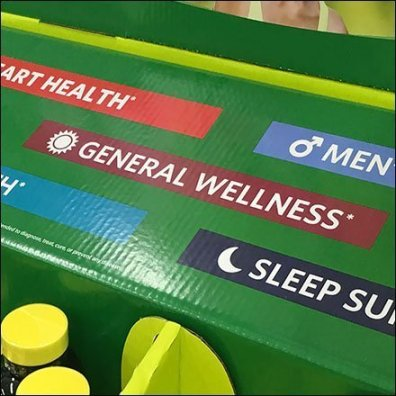 Spring Valley Supplements Point-of-Purchase Island