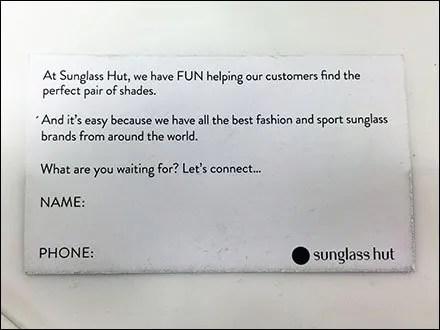 Sunglass Hut Shades of You Outreach Form