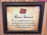 Retail Mission Statement Framed Promise