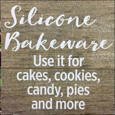 Wilton Silicone Bakeware Aisle Invader Sign