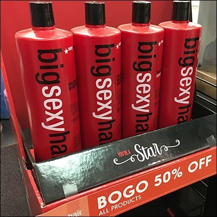 Big Sexy Hair BOGO Display Tower in Red