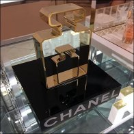 Chanel Perfume Bottle Silhouette Dimensional Square2