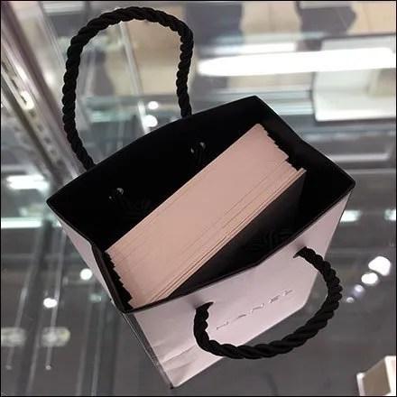 Chanel Perfume Tester Card Shopping Bag