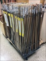 Color-Coded Dowel Wire Rack Merchandiser