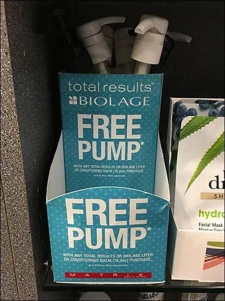 Free Pump Promotional Biolage Incentive