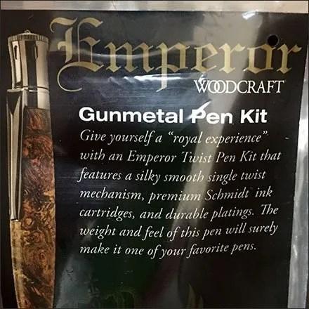 Gunmetal Writing Instrument Component Kit
