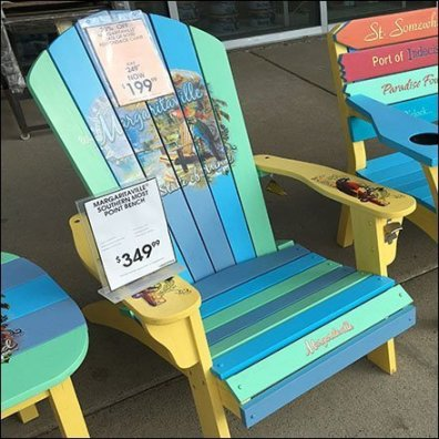 Margaritaville Adirondack Chair Rainbow Paint-job