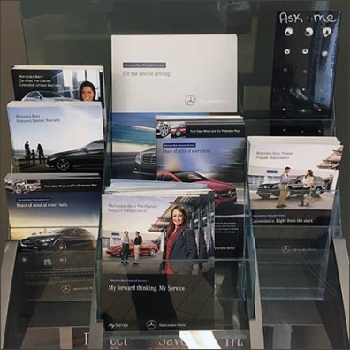 Mercedes Benz Financial Services Literature Rack