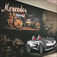 Mercedes Benz Poster Art Unframed