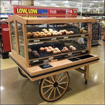 Muffin Wagon Merchandising In-Store